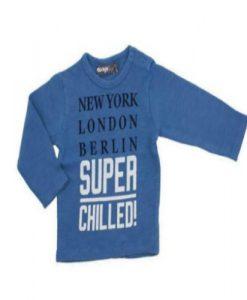 Jongen longsleeve blauw chilled dirkje babykleding