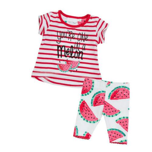 Babykleding Zomer.Setje Happy Summer Melon Babyvilla Nl