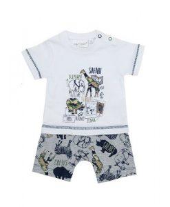 babykleertjes babykleding wilde dieren setje