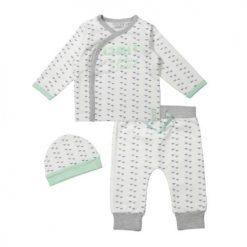 Unisex Babykleding.Uniseks Set Grey Mintgroen Dirkje Babykleding Babyvilla Nl